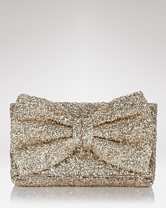 Betsey Johnson Glitter Bow Clutch