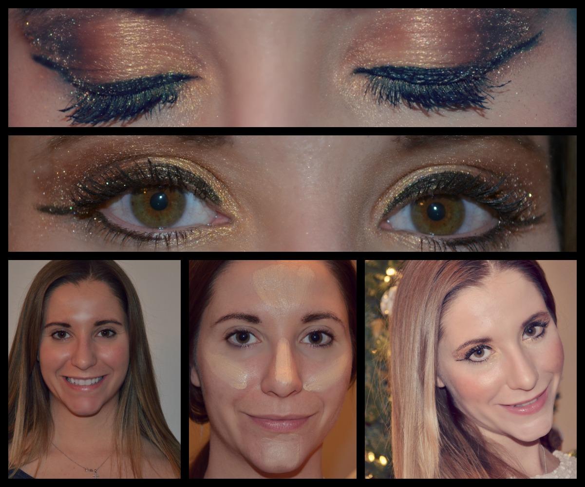 Holiday shimmer makeup tutorial candy stilettos lizmakeupcollage baditri Images