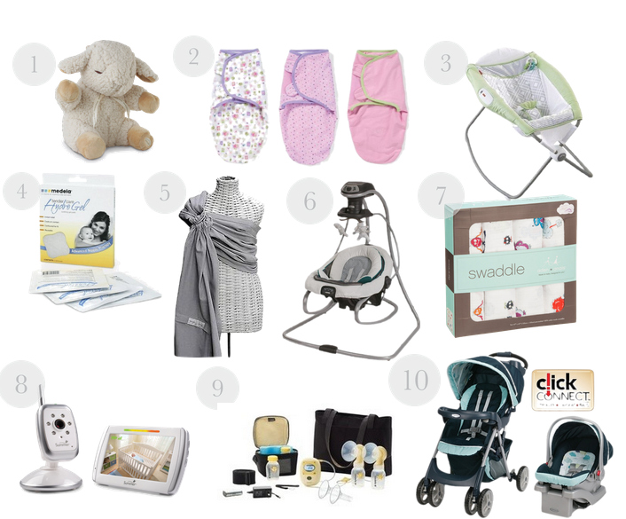 infant items 3-6 several months